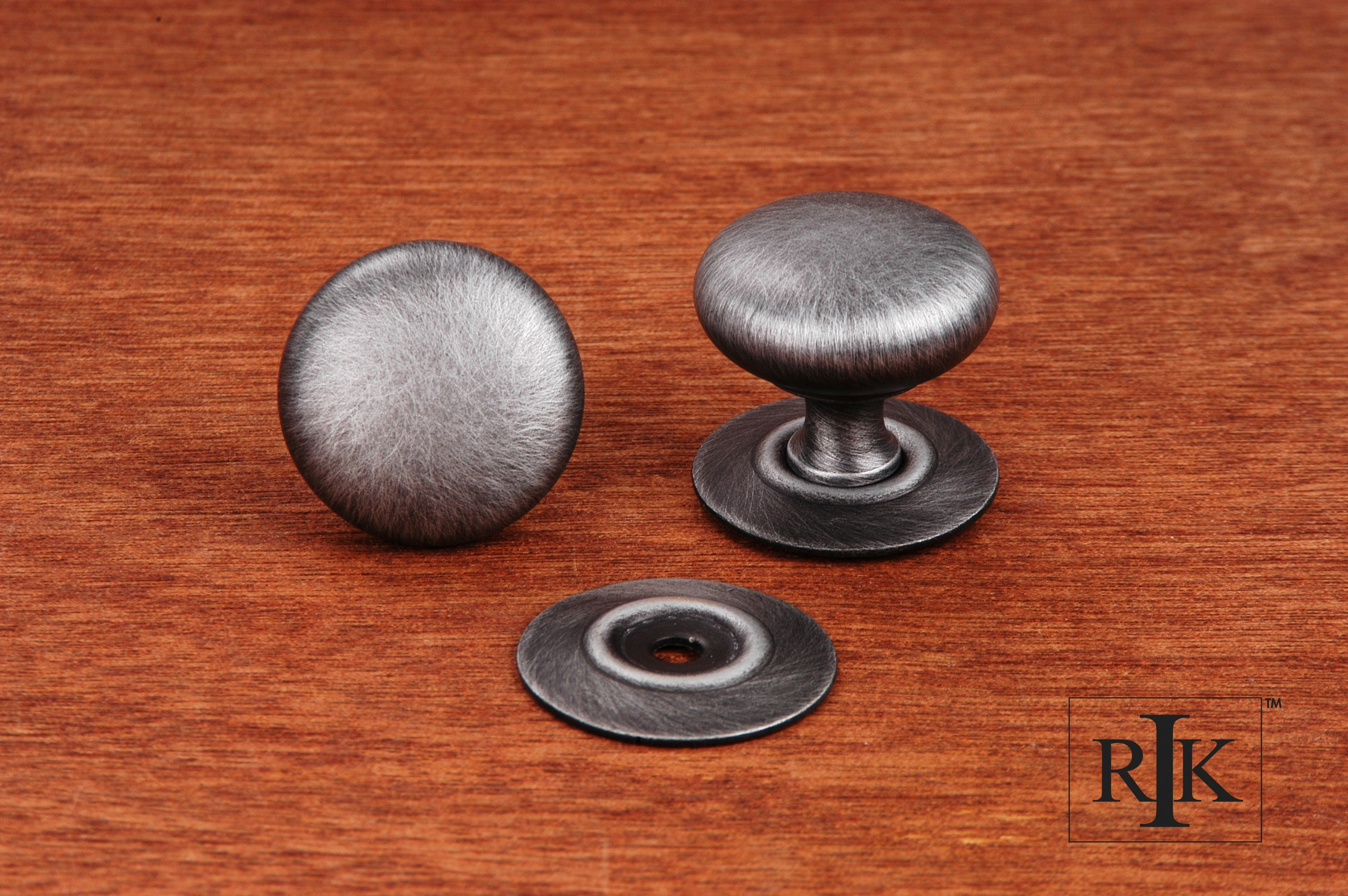 Rk international ck3217 small solid plain knob with for Decor products international