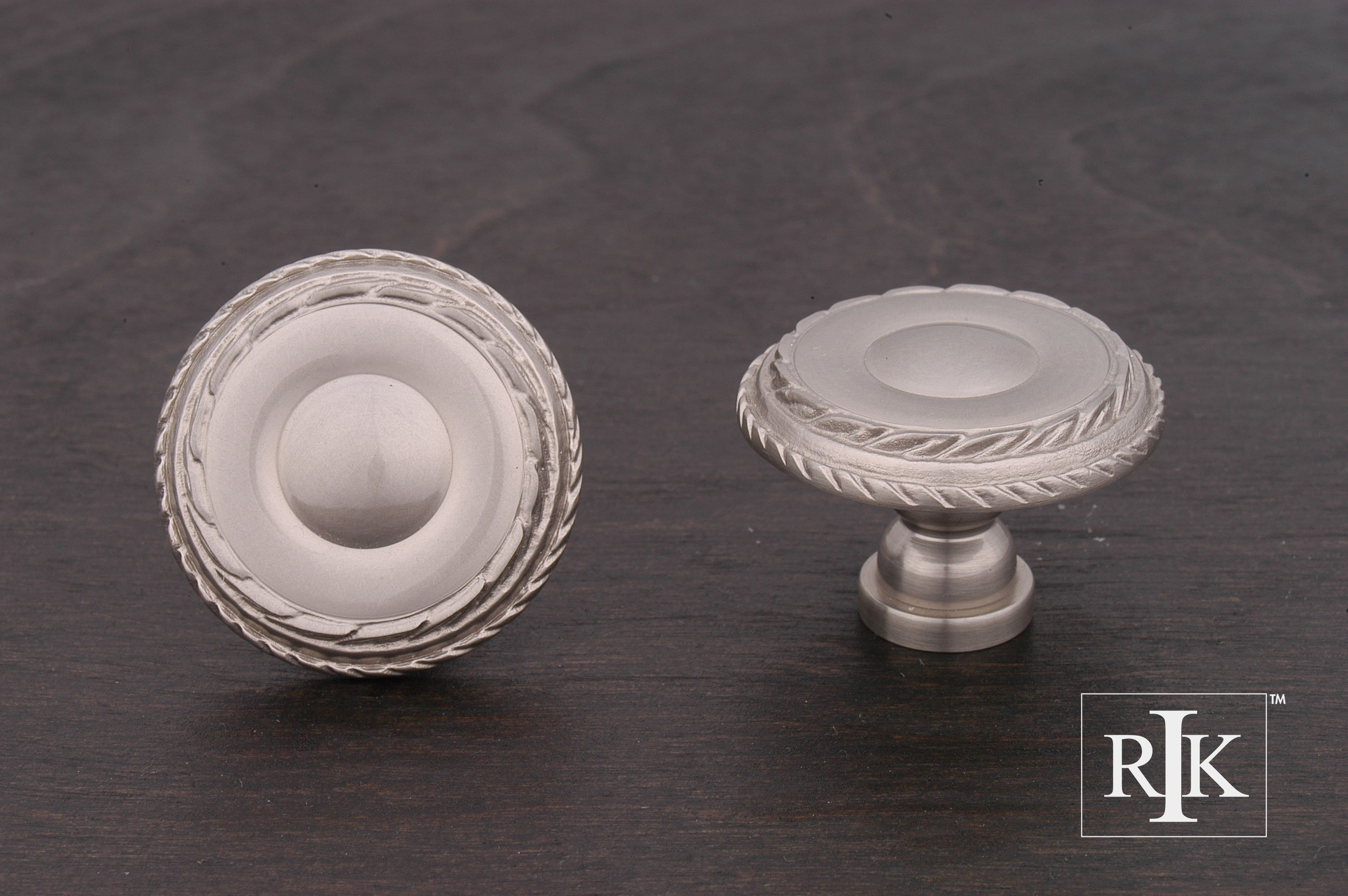 Rk international ck705 large double roped edge knob home for Decor products international