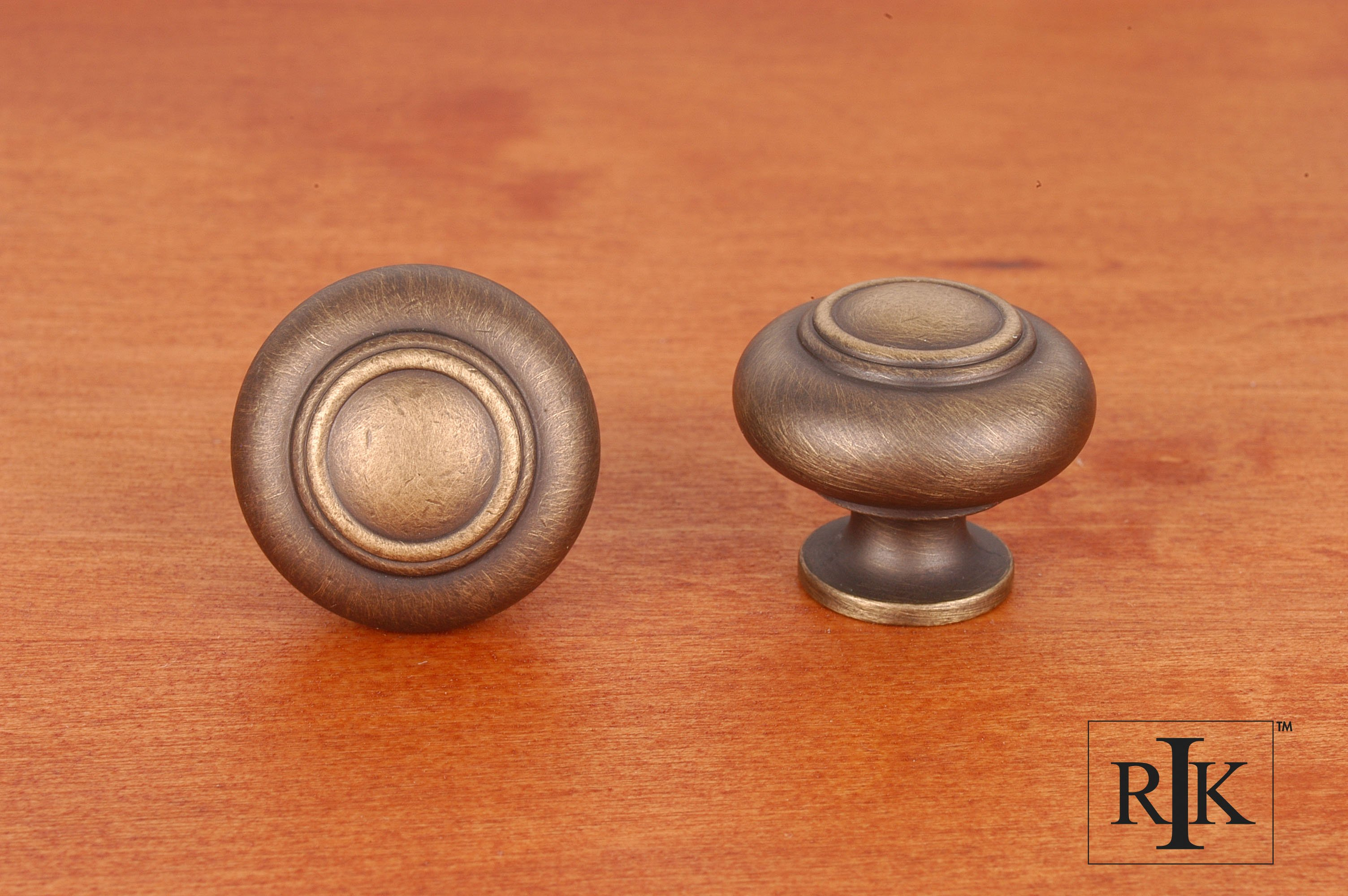 Rk International Ck708 Small Double Ringed Knob Home By Decor