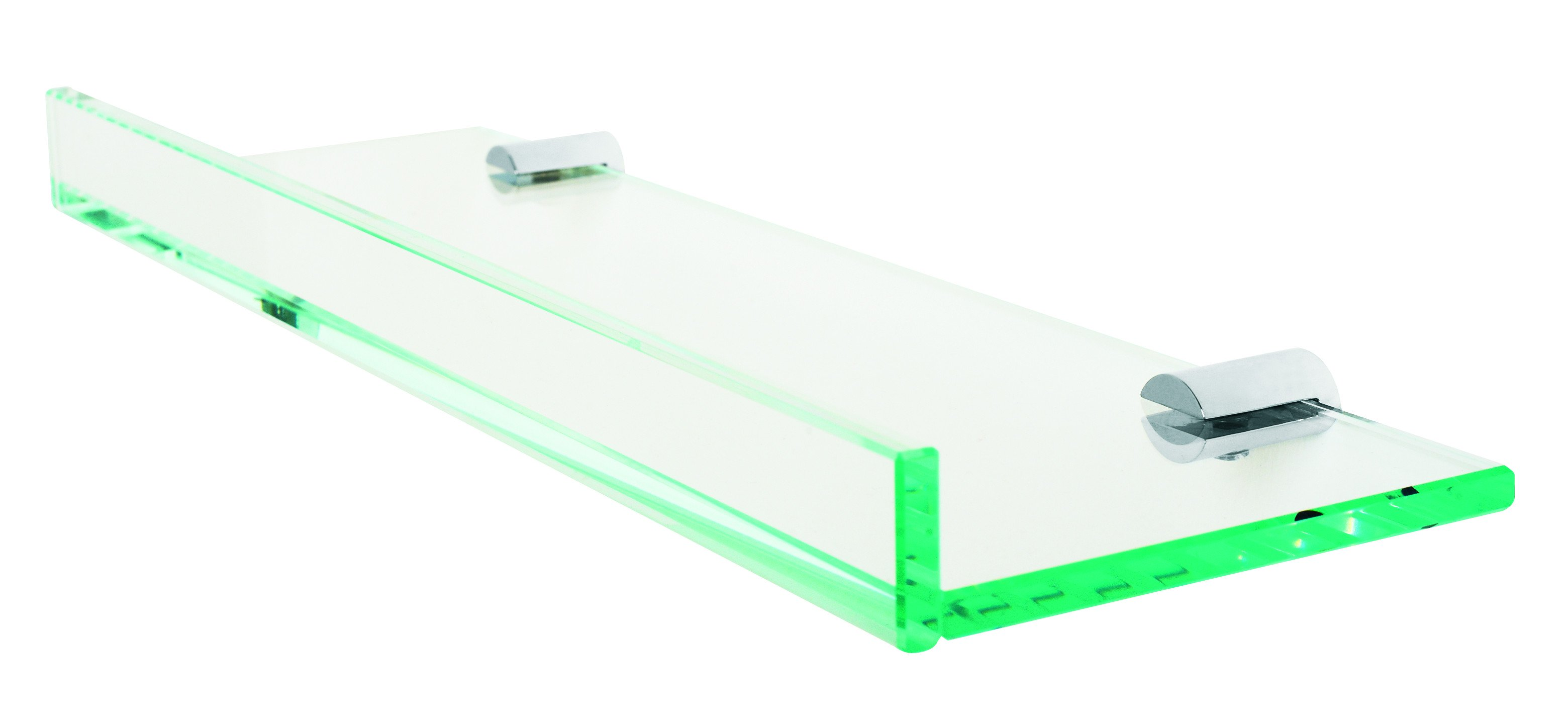 Valsan bathrooms pa126040 archis glass shelf with 1quot front for Valsan bathrooms