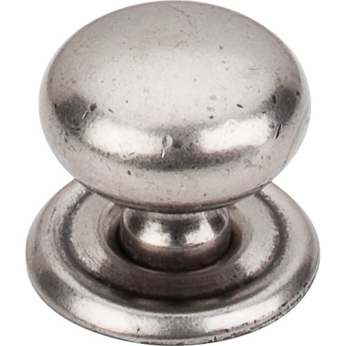 Top Knobs M25 Victoria Knob 1 1 4 W Backplate Pewter Antique Home By Decor