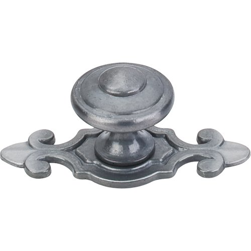 Top Knobs M30 Canterbury Knob 1 1 4 W Backplate Pewter Light Home By Decor